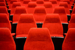 Empty Red Chairs Theatre Royalty Free Stock Photography