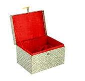 Empty red Chinese gift box isolate Stock Images