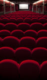 Empty red cinema Royalty Free Stock Image
