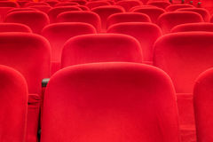 Empty red cinema or theater seats Stock Image