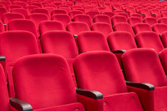Empty red cinema or theater seats Stock Photography