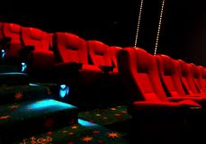 Empty red cinema or theater seats Royalty Free Stock Image