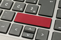 Empty red computer key Royalty Free Stock Photos