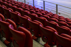 Empty Red Concert Chairs. Rows of empty red concert chairs Royalty Free Stock Image