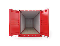 Empty Red Container Stock Photos