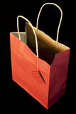 Empty red gift bag Stock Photography
