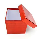 Empty red gift box Stock Photos