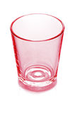 Empty red glass Royalty Free Stock Photos