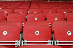 Empty Red Grandstand Stadium Seats Royalty Free Stock Photos