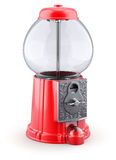 Empty red gumball machine Stock Image