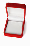 Empty red jewelry box with copy space Stock Image