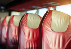 Empty red leather seats. Stock Images