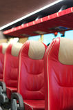 Empty red leather seats. Royalty Free Stock Images