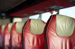 Empty red leather seats. Stock Photography