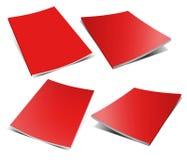 Empty red magazine on white Stock Photos
