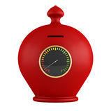 Empty red moneybox Royalty Free Stock Photos
