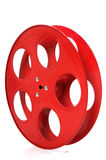 Empty Red Movie Reel. Isolated over white background stock images