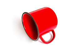 Empty red mug Royalty Free Stock Photos