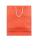 Empty red paper bag isolated on white Royalty Free Stock Image