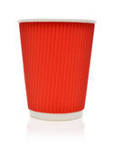 Empty red paper cup Royalty Free Stock Image