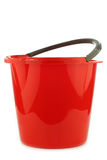Empty red plastic household bucket Royalty Free Stock Photo