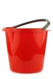 Empty red plastic household bucket Royalty Free Stock Photo