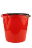 Empty red plastic household bucket Royalty Free Stock Photography