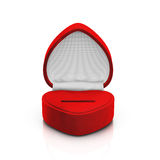 Empty red ring box Royalty Free Stock Photo