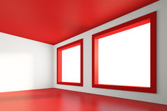 Empty Red Room Royalty Free Stock Images