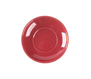 Empty red saucer Stock Image