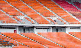 Empty red seating in sport stadium Stock Photography