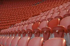 Empty red seats. Empty stadium with red seats Stock Images