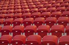 Empty red seats. Empty stadium with red seats Stock Photography