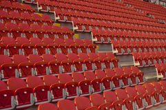 Empty red seats. Empty stadium with red seats Royalty Free Stock Photo