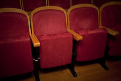 Empty red seats. For cinema, theater, conference or concert Royalty Free Stock Image