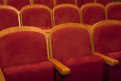 Empty red seats. For cinema, theater, conference or concert Stock Photo
