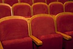 Empty red seats Stock Photo