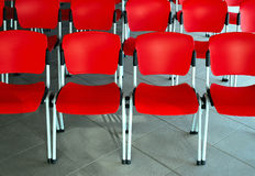 Empty red seats. Conference room with empty red seats Stock Photography