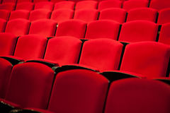 Empty red seats. In the theater Royalty Free Stock Photo