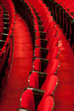 Empty red seats. In the theater Stock Photography