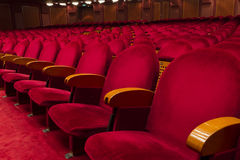 Empty red seats for cinema. Theater, conference or concert Royalty Free Stock Photos