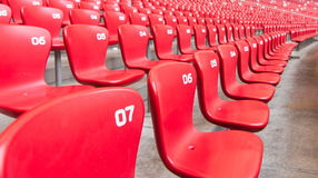 Empty red seats Stock Photo