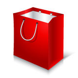 Empty Red Shopping Bag on white background Royalty Free Stock Image