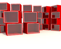 Empty red Showcase Stock Photography