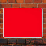 Empty red sign Royalty Free Stock Images