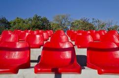 Empty red stadium seats Stock Image