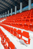 Empty, red stadium seats Stock Photos