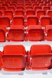 Empty, red stadium seats Royalty Free Stock Photo