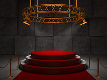 Empty red stage Royalty Free Stock Photo
