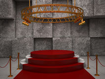 Empty red stage Royalty Free Stock Images